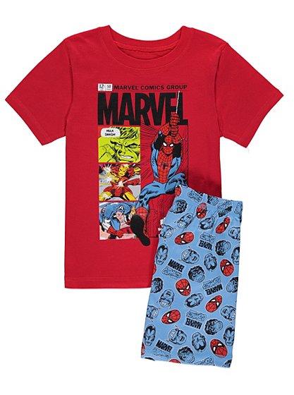 Marvel spiderman t shirt and shorts pyjamas kids T shirt and shorts pyjamas