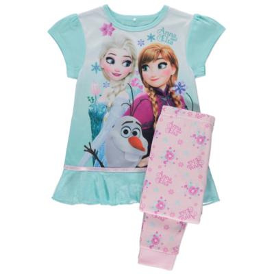 George Disney Frozen Pyjamas With Cape - Blue