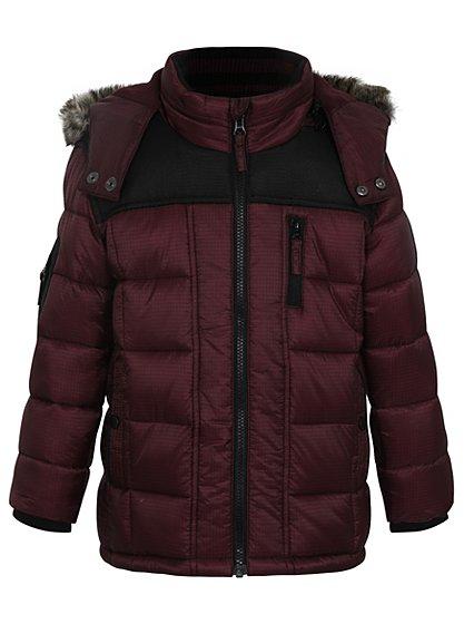 hooded quilted jacket kids george at asda. Black Bedroom Furniture Sets. Home Design Ideas