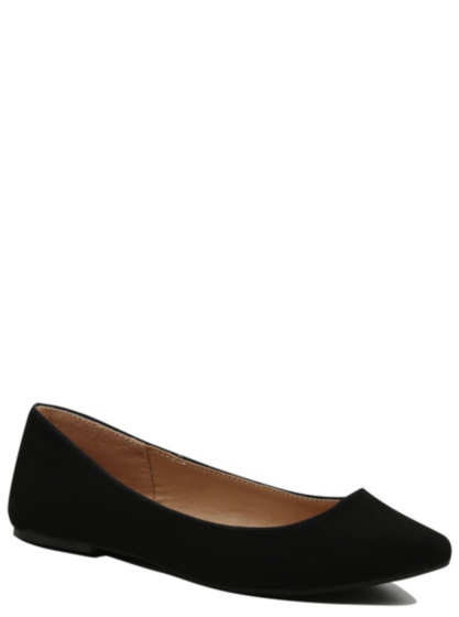 faux suede ballet shoes george at asda