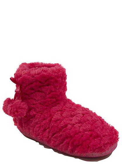 tickled pink fluffy boot slippers women george at asda. Black Bedroom Furniture Sets. Home Design Ideas