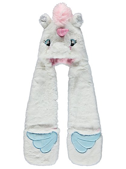 Unicorn Hooded Scarf Kids George At Asda