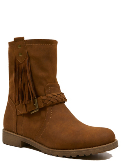 tassel trim faux suede ankle boots george at asda