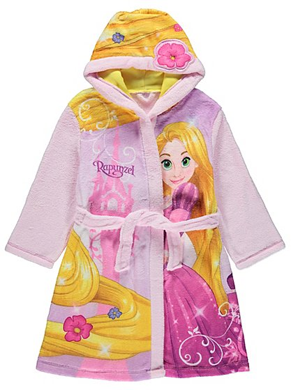 Disney princess rapunzel dressing gown kids george at asda for Disney princess mural asda