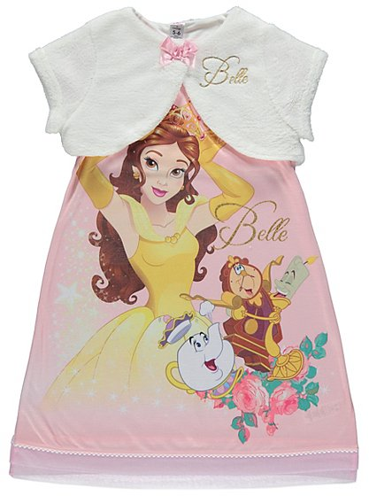 Disney princess belle nightdress with shrug kids for Disney princess mural asda