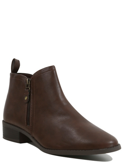 faux leather ankle boots george at asda