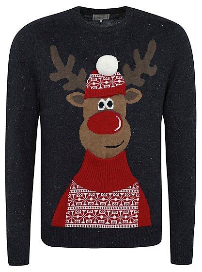 Christmas Rudolph Jumper Men George At Asda
