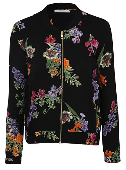 Floral Print Bomber Jacket Women George At Asda