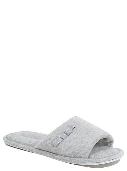 open toe mule slippers women george at asda. Black Bedroom Furniture Sets. Home Design Ideas
