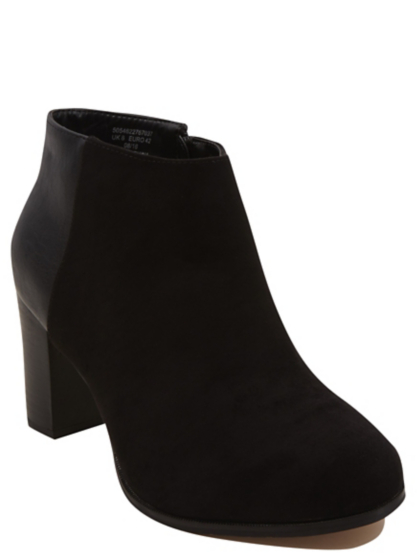 wide fit heeled ankle boots george at asda