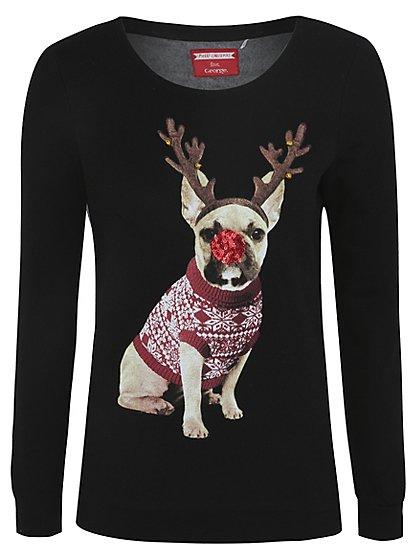 Christmas Rudolph French Bulldog Sweatshirt