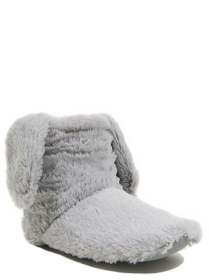 rabbit ear fleece slipper boots women george at asda. Black Bedroom Furniture Sets. Home Design Ideas