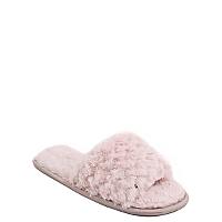 faux fur mule slippers women george at asda. Black Bedroom Furniture Sets. Home Design Ideas