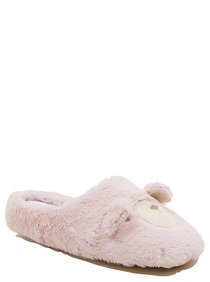 bear slippers with eye mask women george at asda. Black Bedroom Furniture Sets. Home Design Ideas
