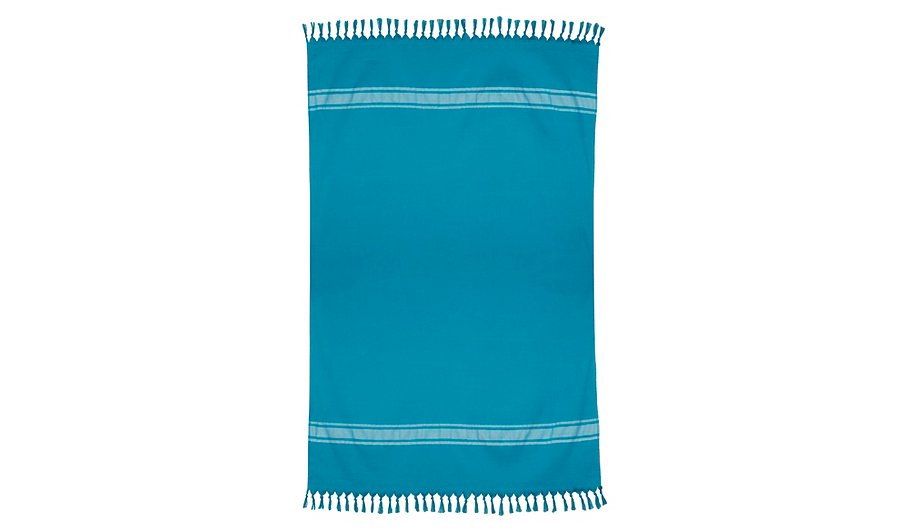 george home blue hammam beach towel 100 cotton home. Black Bedroom Furniture Sets. Home Design Ideas