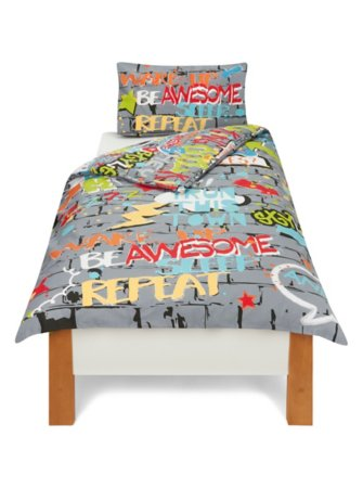 George Home Graffiti World Single Duvet Set