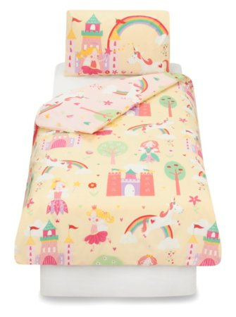 George Home Fairy Princess Unicorn Duvet Set
