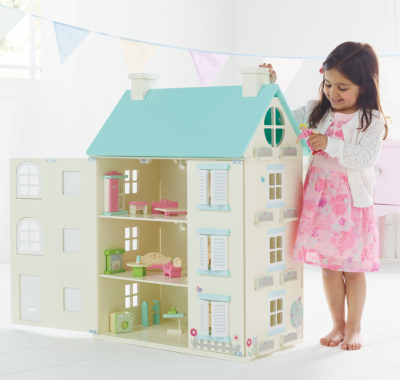 George Home Wooden Light Up Dolls House   Kids   George at ASDA