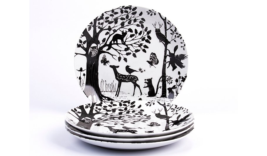 George Home Enchanted Forest Dinner Plates Set Of 4