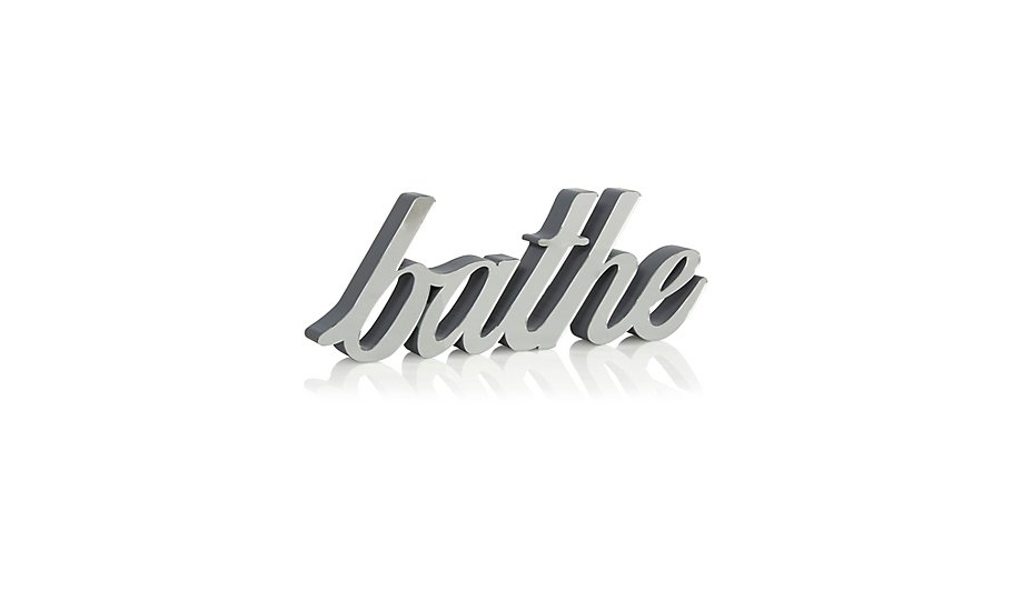 Bathe Mirrored Sign. Bathroom Ornaments   Bathroom Accessories   Home   Garden   George