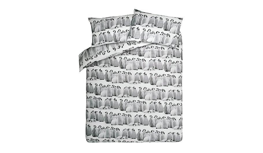george home brushed cotton penguin duvet set home. Black Bedroom Furniture Sets. Home Design Ideas