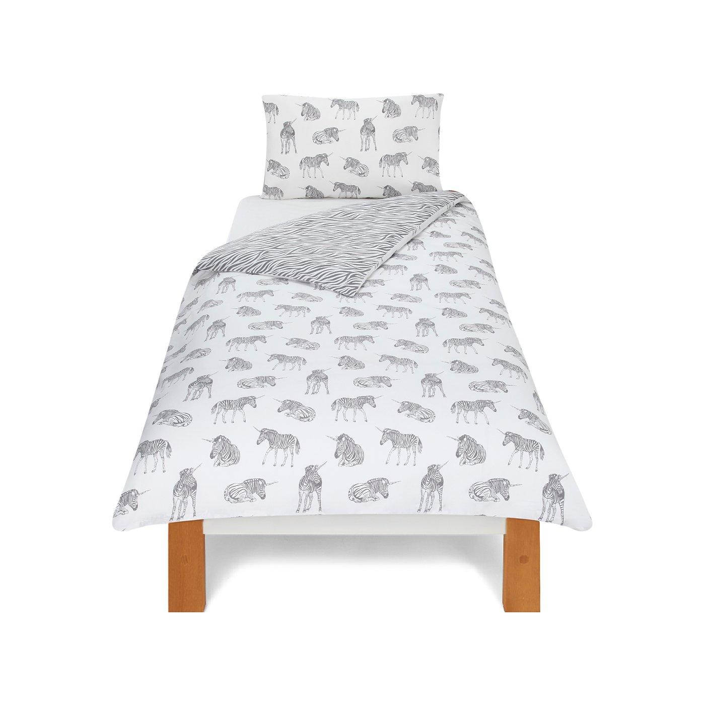 White apron asda - Unicorn Zebra Bedding Range