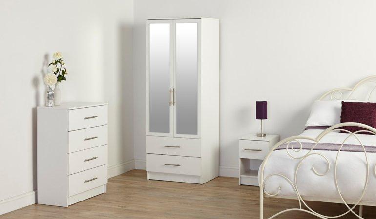 George Home Roselyn Bedroom Furniture Range - White