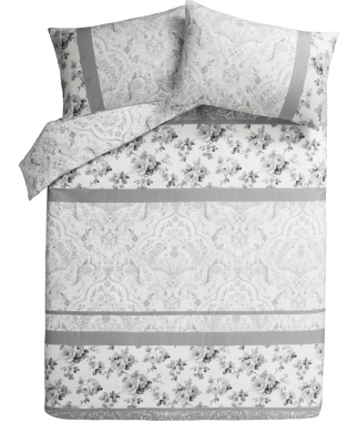 Classic Grey Patch Duvet Cover
