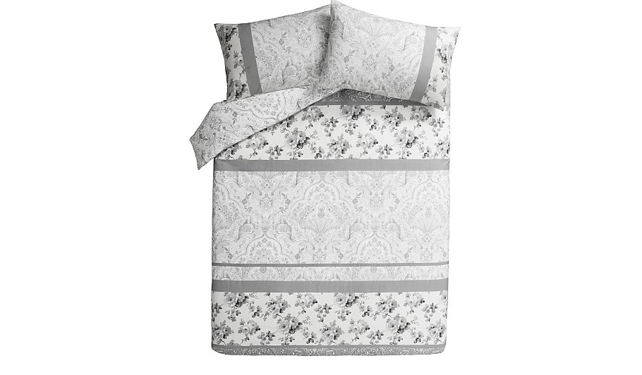Classic Grey Patch Duvet Cover Home Amp Garden George At