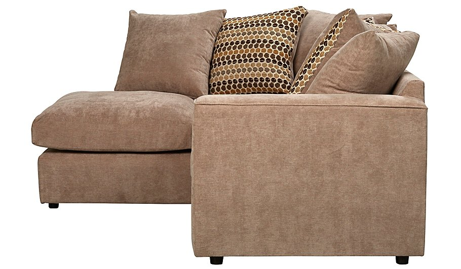 todd right hand corner chaise taupe home garden. Black Bedroom Furniture Sets. Home Design Ideas
