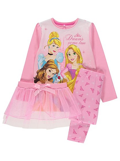 Disney princess pyjamas with tutu kids george at asda for Disney princess mural asda