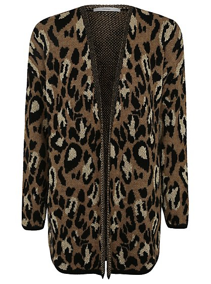 Leopard Knitting Pattern : Leopard Pattern Knitted Cardigan Women George at ASDA