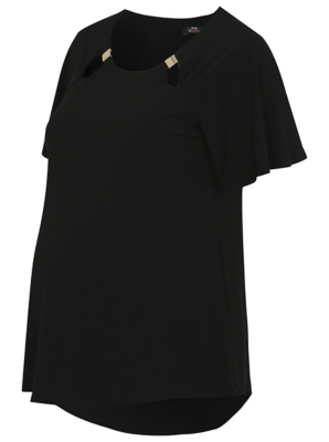 Product photo of George maternity cutout top black