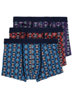 3 pack assorted geo print hipster trunks | men | george at