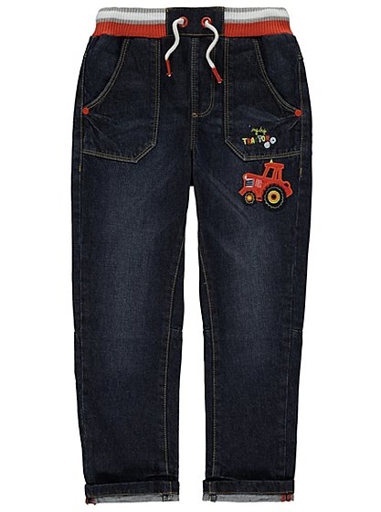 Tractor embroidery jeans kids george at asda