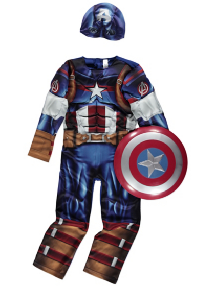 Boys' Muscle Captain America Superhero Fancy Set Costume Shield Mask. from $ 9 99 Prime. out of 5 stars 9. Xcostume. Civil War Cosplay Costume Steven for Adult. Spiderman and Captain America Baby Girls' Costume Dress, Leggings and Headband Set. .