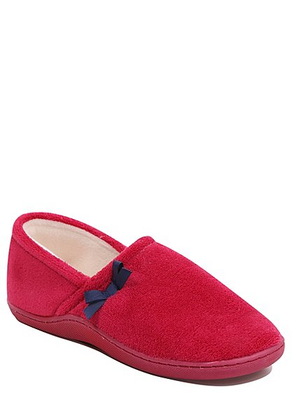 memory foam fullback slippers women george at asda. Black Bedroom Furniture Sets. Home Design Ideas