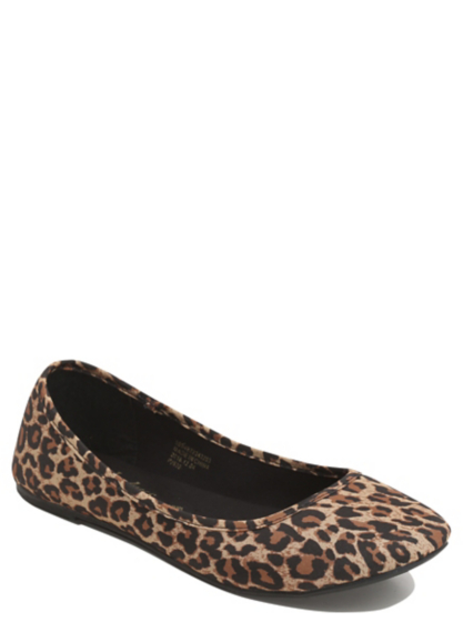 leopard print canvas ballet shoes george at asda