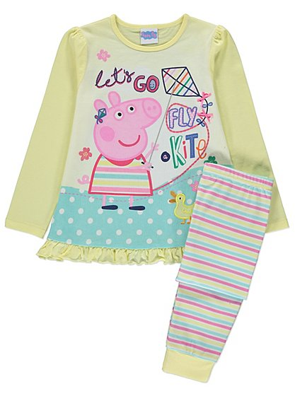 peppa pig fly a kite pyjama set kids george at asda. Black Bedroom Furniture Sets. Home Design Ideas