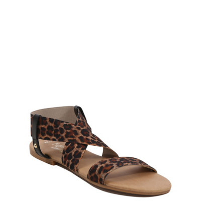 George Leopard Gladiator Sandals - Multi