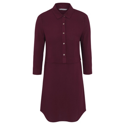 George Buttoned Shirt Dress - Plum
