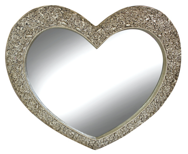 French Style Ornate Heart Rose Mirror - Champagne | Mirrors | George at ASDA