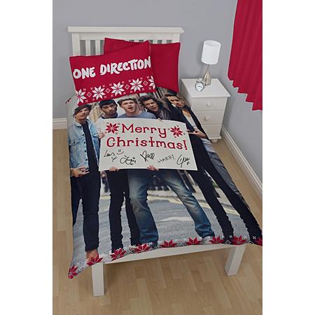 one direction christmas duvet set single bedding asda direct. Black Bedroom Furniture Sets. Home Design Ideas