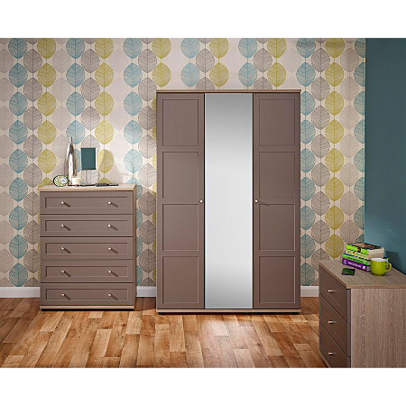 Monza Bedroom Furniture Range Dark Oak Effect Bronze Bedroom Ranges Asda Direct