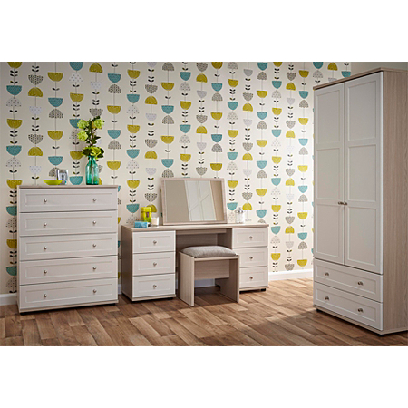 Monza Bedroom Furniture Range Light Oak Effect White Bedroom Ranges Asda Direct