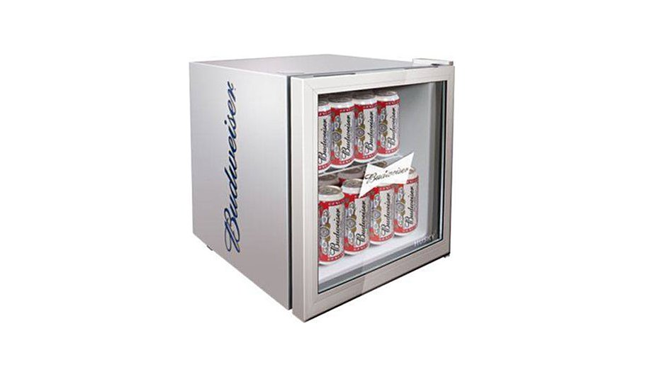 husky hm72 budweiser mini fridge drinks chiller. Black Bedroom Furniture Sets. Home Design Ideas