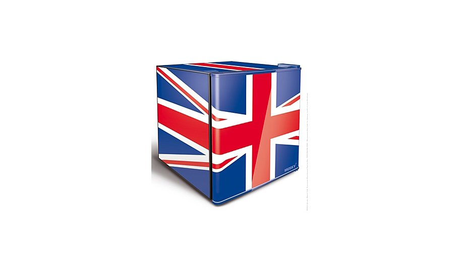 husky el193 union flag mini fridge home garden. Black Bedroom Furniture Sets. Home Design Ideas