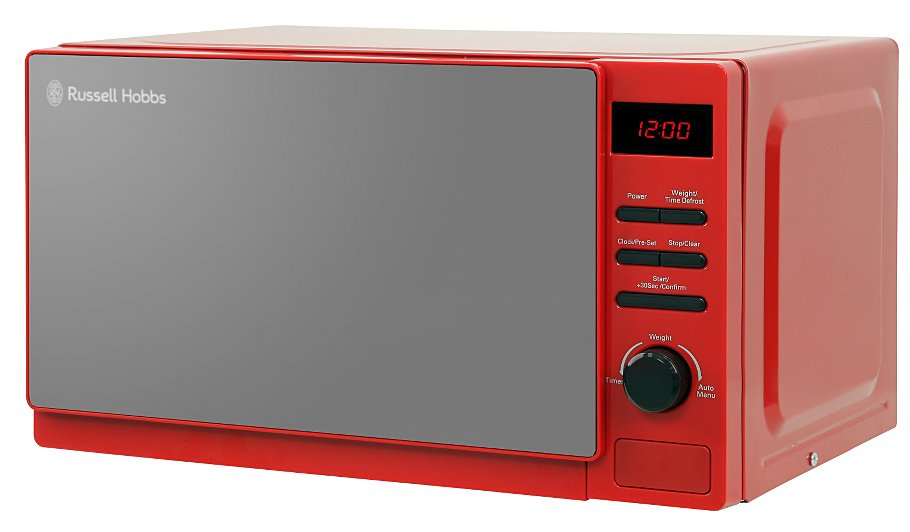 russell hobbs aura rosso 20l 800w microwave various colours home garden george at asda. Black Bedroom Furniture Sets. Home Design Ideas