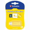 Verbatim 47395 Store 'n' Go Pinstripe USB Drive 8GB Yellow alternative view
