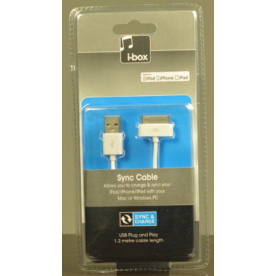 iBox iPod USB Charge and Sync Cable 76973HS/02 product image